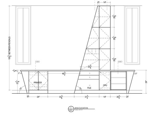 Cabinet shop drawings